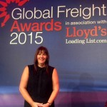 Oakland International's Quality Assurance Manager, Louise Smith, at the Global Freight Awards in London.