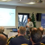 Annalisa Randazzo, International Tax Partner at Kreston GV Italy, briefs West Midlands company leaders on doing business in Italy at the Bishop Fleming seminar, held at Worcestershire County Cricket Club.