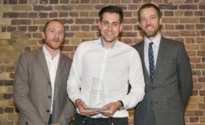 Appear Here's Bastiaan Haghuis (centre) - Startups Business Awards 2015 @ Vinopolis, London ***Pic by David McHugh -07768 721637***