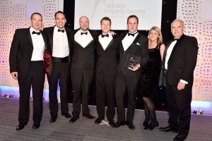 The Willmott Dixon team collecting the Construction Project of the Year award