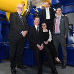 New Test Rig Centre: (l-r) Nick Mallinson (Warwick Manufacturing Group), Neil Wyke (Georg UK), Lucy Prior (Rail Alliance), David Atkinson (Lloyds Bank) and Adam Titchen (EEF)