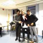 Winner Serag with Hosts Amandip Bhamra and Balraj Samra