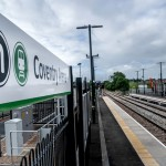 The new Coventry Arena station, part of a £13.6 million investment to improve rail services between Coventry and Nuneaton.