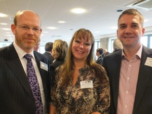 Angus Taylor, Sam Pennington and Chris Eldridge at the Three Counties Business Breakfast