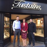 Photo Brothers and co-directors of Tustains Tom Milner (left) and Joe Milner (right) with Gill Hutchinson, Aardvark Marketing Director