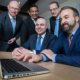 (l-r) Rob Andrews, CEO Andrew Ritson Solicitors; Colin Rodriquez, Partner at Hawkins Hatton; Stephen Murray, Investment Director at Finance Birmingham; Steve Richards, Director of BSN Chartered Accountants and Jolyon Barker, CEO of Chrysalis Solmotive.