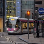 Trams returned to city centre streets in December
