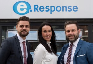 l-r Gareth Matts (Branch Manager - Worcester), Amy Byng (Area Manager - Worcestershire) and Richard Marsh (Operations Director) all eResponse Group