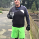 Mark Tweedle training for London Marathon 2016.