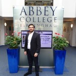 Alumni student Hasnain Masood visits the college