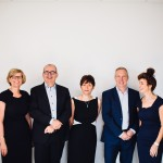 Pictured from left to right: Wilson Vale directors, Kathryn Pell-Walpole, Andrew Wilson, Esther Brookes, Alan Beddie and Carolyne Vale. The final board member, Graeme Watson (operations director), is missing from the photo.