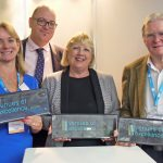 left to right Venues of Excellence board members, Bronagh Bell, Stuart Websdale (Chairman) Claire Pearce and Barry Stonham.