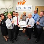 Premier Placement Services MD Jonathan Harper and the team celebrate 20 Years in business