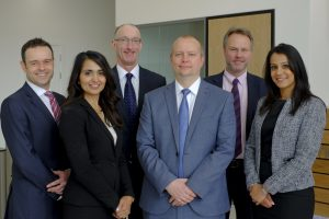Members of the West Brom's intermediary team including (l-r) Max Thompson, Polly Johal, Tony Tudor, Richard Scott, Gareth Tormajer and Indie Bansi.