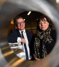 ) Lorraine Holmes and Martin Coats (both Manufacturing Growth Programme)