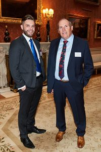 Seb Maley (Qdos Contractor CEO) _ Steve Greenwell (Qdos Group Chairman) at Buckingham Palace