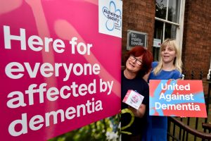 Emma Dowler from the Alzheimer's Society and Michelle Monnes-Thomas from FBC Manby Bowdler.