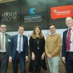Pictured at the Higgs & Sons event are, from left: Paul Hunt, Managing Partner at Higgs & Sons; Andy Street, WMCA Mayor; Julia Lowe, Partner at Higgs; Reece Pope of Stonewall and Paul Barker, Partner at Higgs
