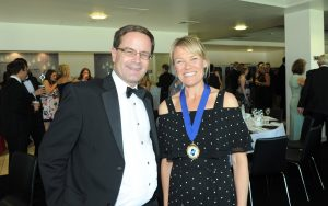 STEP Vice Chair Peter Gosling with Chair Sarah Wood