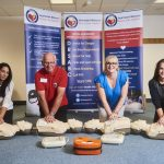 Melton Group - staff going through their training with Heartstart (Melanie Baker is second right)