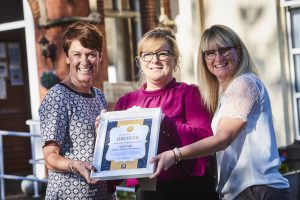 Pictured is Rachel Kenyon  and Tammy Hulley from Adventure with Dementia with Ann Norris (centre)