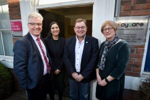 FBC Manby Bowdler Head of Personal Injury Tim Gray, PI Associate Jas Tawana , CEO of Pay Care Kevin Rogers, Susan Todhunter, FBCMB PI Partner