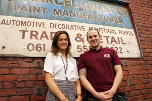 HMG Paints -Apprenticeship week 2019 - Melissa and Joe - historical sign