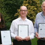 Commercial Director Victoria Lawson, Health & Safety Manager Steven Taylor and Pave Aways MD Steven Owen with the three ISO standards 2.JPG