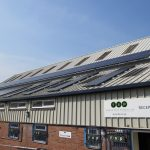 Part of the £160k solar installation at FSP that will power its Telford factory