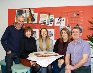 Catering Design Group (CDG) has become one of the first companies to sign up to the new cedaSAFE Health and Safety Accreditation Scheme. Picture shows from left to right: Steve Hutchings, director; Helen Davies, commercial director; Ellis Gadsby, designer; Laura Harris, office manager, and Kevin Broadley, contracts manager.