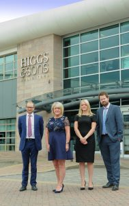 Adam Johnson from Higgs & Sons, Alison Trinder – Black Country Chamber of Commerce, Amy Brockenshire and Jamie Partington from Higgs & Sons