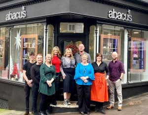 Nick and Allison Ford with the Abacus team in Bewdley