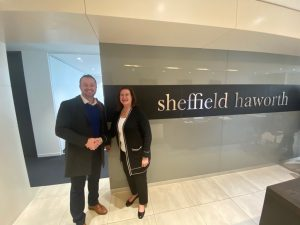 Andy Lewis, BDM at Nasstar with Penny Bushell, Head of Operations at Sheffield Haworth