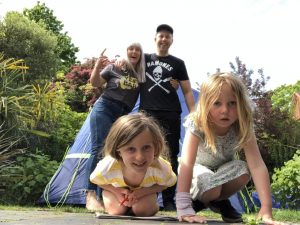 Punks & Chancers family join in the Big Brummie Camp Out